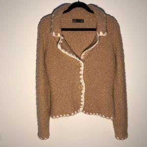 Zara | Wool/mohair blend | Knit buttoned cardi | M